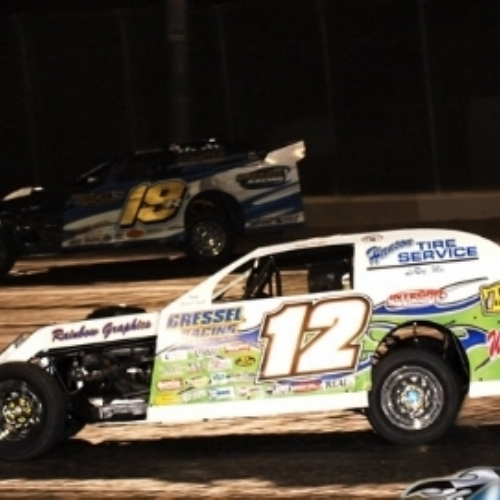 Side by side with Jason Hughes at the Royal Purple Raceway in Baytown, Texas.
